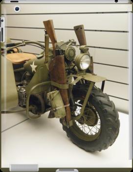 Harley Davidson army motorcycle by purplefoxphoto