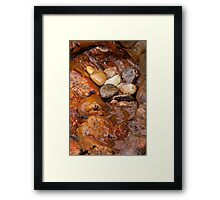 Colorful pebbles Framed Print