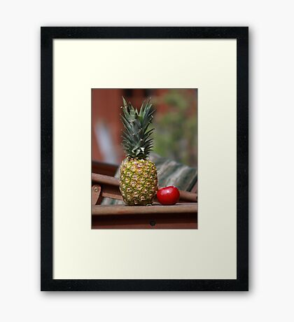 Pineapple Fruit Framed Print