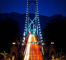 Lions Gate Bridge in Vancouver by vladthefool