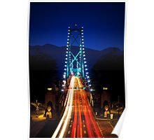 Lions Gate Bridge in Vancouver Poster
