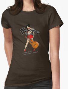 Hooker Weissenborn guitars girl Womens Fitted T-Shirt