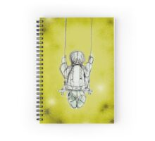 Girl on a swing. Spiral Notebook