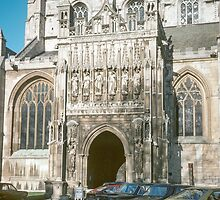 South door Gloucester Cathedral 198101150008 by Fred Mitchell