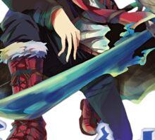 blue exorcist rin divine anime design Sticker