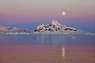 Moonrise at sunset, Antarctica by Neville Jones
