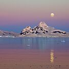 Moonrise at sunset, Antarctica by Neville Jones
