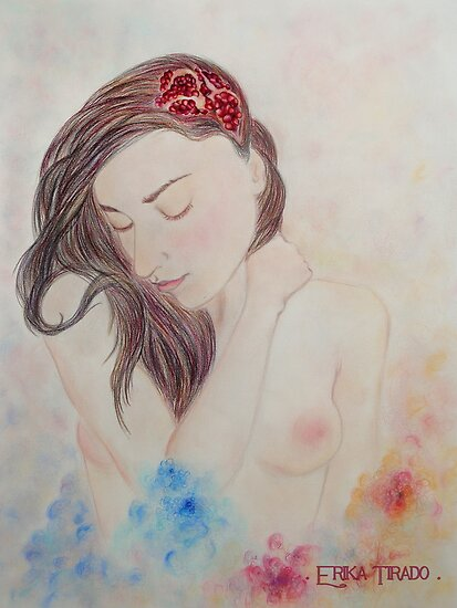 Pomegranate Woman by Erika .