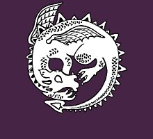 Dragon Sleep Womens Fitted T-Shirt
