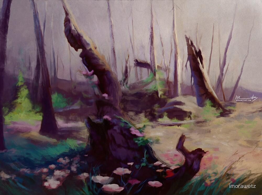 Rebirth | painted Bambi landscape by imorawetz
