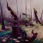 Rebirth | painted Bambi landscape by imorawetz