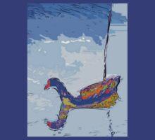 Floating moorhen by ♥⊱ B. Randi Bailey