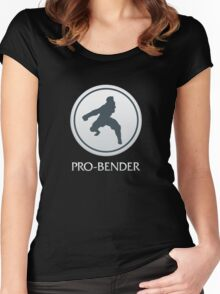 Pro-Bender (with text) Women's Fitted Scoop T-Shirt