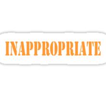 Inappropriate Sticker