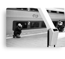 Taking a picture, of taking one. Canvas Print
