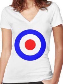 Tank Girl (Booga's Bullseye) Women's Fitted V-Neck T-Shirt