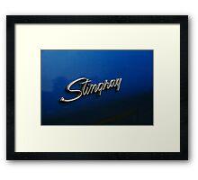 Corvette badge stingray Framed Print