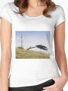 Hanging On!  Women's Fitted Scoop T-Shirt