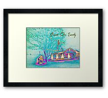 Peace On Earth Holiday Scene Framed Print
