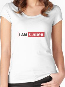 I AM CANON - Camera Shirt Women's Fitted Scoop T-Shirt
