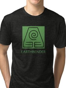 Earthbender (with text) Tri-blend T-Shirt