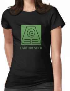 Earthbender (with text) Womens Fitted T-Shirt
