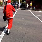 Girl dressed as Santa on Chapel St by Tatterhood