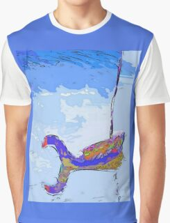 Floating moorhen Graphic T-Shirt