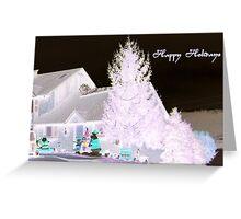 Lavendar Christmas Tree Greeting Card