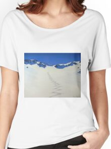 Heli-skiing in the Taylor Range, New Zealand Women's Relaxed Fit T-Shirt