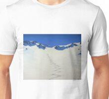 Heli-skiing in the Taylor Range, New Zealand Unisex T-Shirt