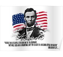 "Abraham Lincoln ""Ameliorating mankind"" Poster"