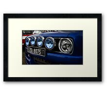 Mini Spotlights car Framed Print