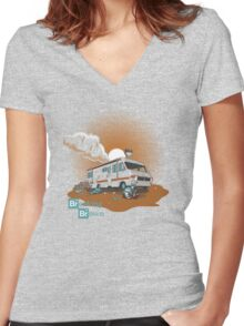 Breaking Brown Women's Fitted V-Neck T-Shirt