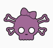 Hello Kitty Zombie Skull pink with black Outline by thatstickerguy