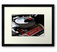 Corvette engine Framed Print