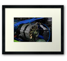 Car engine gear Framed Print