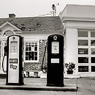 The Old Gas Station by Monte Morton