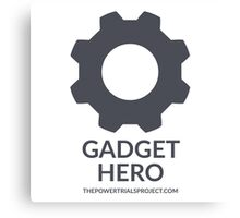"""Gadget"" Hero Logo - Light Background Canvas Print"