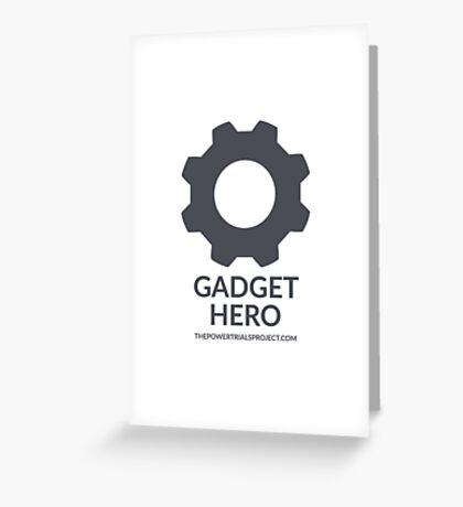 """Gadget"" Hero Logo - Light Background Greeting Card"