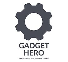 """Gadget"" Hero Logo - Light Background Photographic Print"
