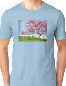 Pink Flowering Tree Unisex T-Shirt