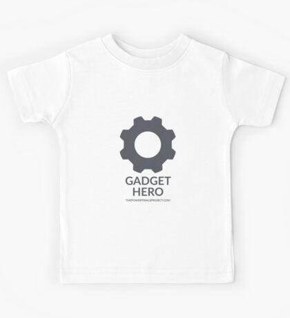"""Gadget"" Hero Logo - Light Background Kids Tee"