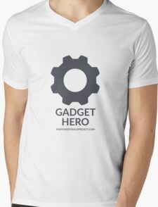 """Gadget"" Hero Logo - Light Background Mens V-Neck T-Shirt"