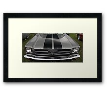 Ford Mustang front Framed Print