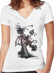 Lady Crawley Women's Fitted V-Neck T-Shirt