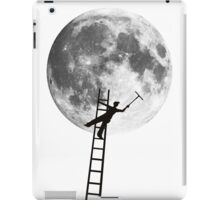 MOONSHINE black and white illustration and silhouette iPad Case/Skin