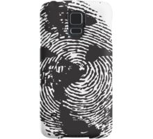 Globe Finger Print T-shirt: One Of A Kind Samsung Galaxy Case/Skin