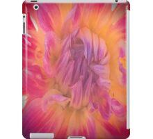 Orange And Pink Dahlia iPad Case/Skin