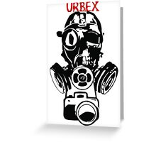Urban Exploration UrbEx Gas Mask Skull Greeting Card
